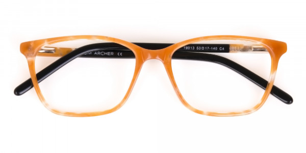 Brown Sparkle Apricot Nude Black Eyeglasses-6