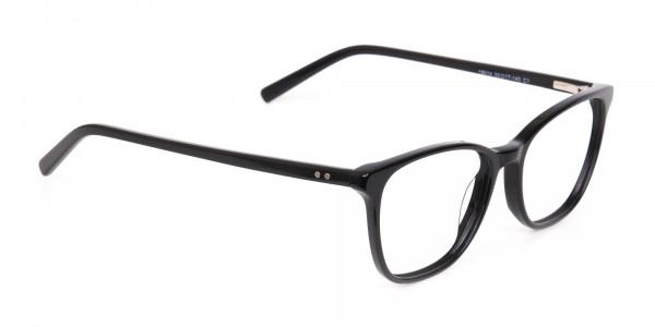 Black Wayfarer Acetate Eyeglasses Unisex-2
