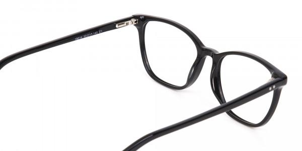Black Wayfarer Acetate Eyeglasses Unisex-5