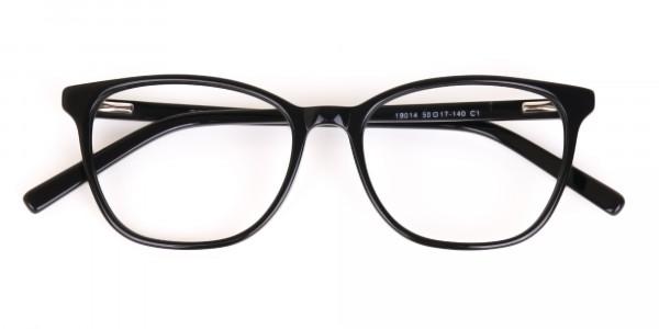 Black Wayfarer Acetate Eyeglasses Unisex-6