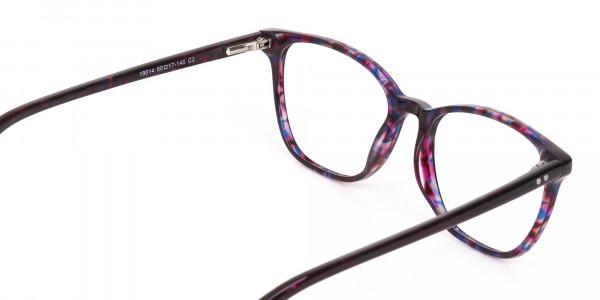 Purple Tortoise Wayfarer Acetate Eyeglasses-5
