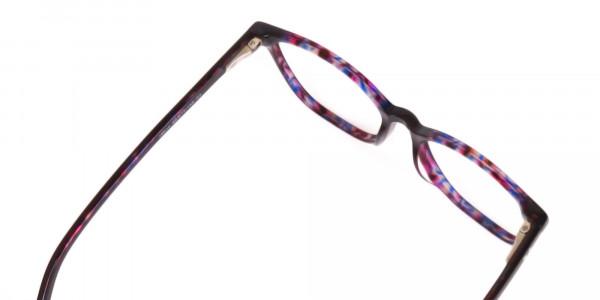 Purple Tortoise Wayfarer Acetate Eyeglasses-6