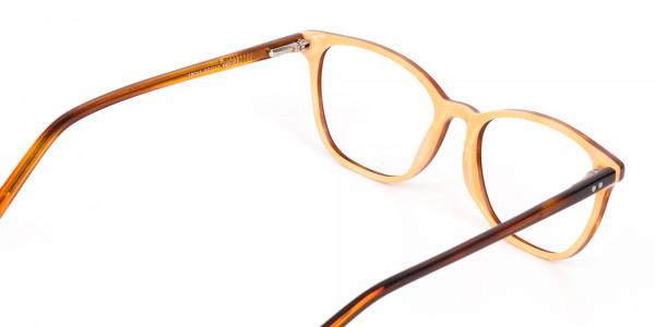 Caramel Brown Wayfarer Acetate Eyeglasses-5