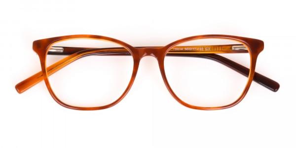Caramel Brown Wayfarer Acetate Eyeglasses-7