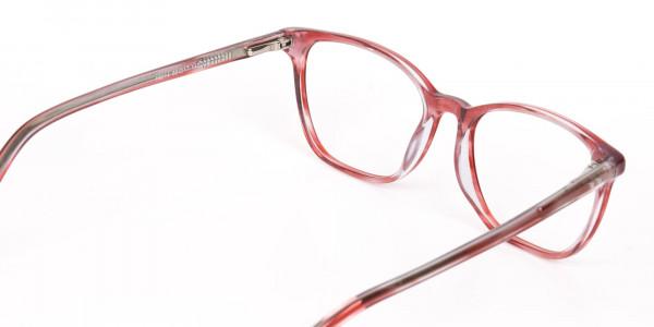 Translucent Rose Red Wayfarer Acetate Glasses-5