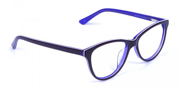 Women's Purple Cat Eye Glasses - 1
