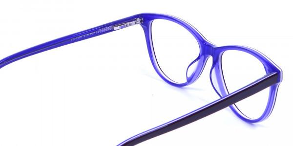 Women's Purple Cat Eye Glasses - 4