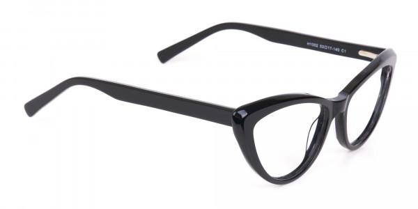 Black Cat Eye Glasses Frame For Women-2