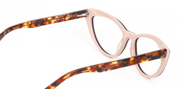 Red and Nude Tortoise Cat eye glasses Women-5