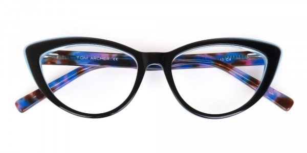 Black & Blue, Purple tortoise Cat eyeglasses Women-6