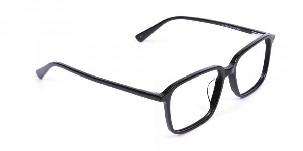 Black Rectangular Glasses - 1