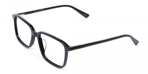 Black Rectangular Glasses - 2