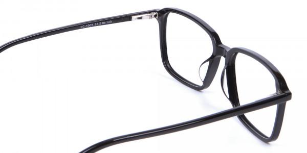 Black Rectangular Glasses - 4