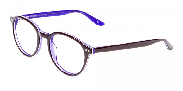 Black and Violet Glasses Online - 3