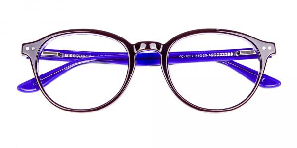 Black and Violet Glasses Online - 7
