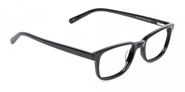 Rectangle Black Glasses for Round Face - 1