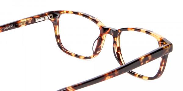 Havana & Tortoiseshell Wayfarer Glasses - 4