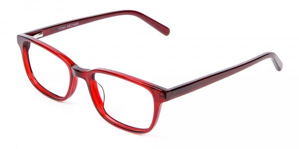 Red Wayfarer Glasses Online - 2