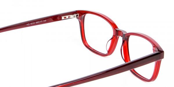 Red Wayfarer Glasses Online - 4
