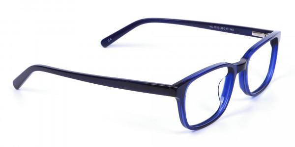 Men's and Women's Blue Rectangular Glasses -  1