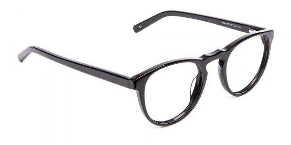 Round Black Glasses Online - 1