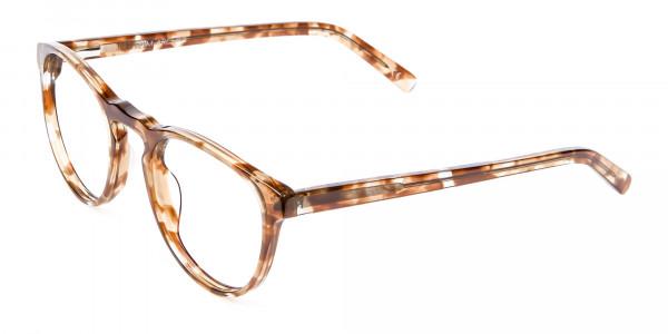 Round Glasses in Maple Havana -3
