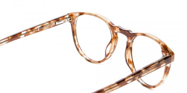Round Glasses in Maple Havana -6