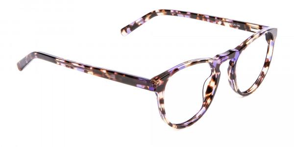 Violet Tortoiseshell Glasses -2