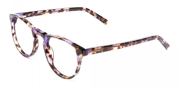 Violet Tortoiseshell Glasses -3