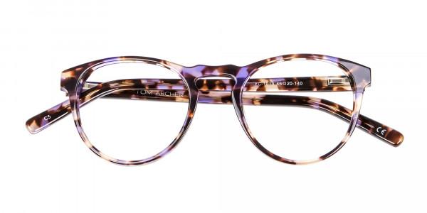 Violet Tortoiseshell Glasses -6