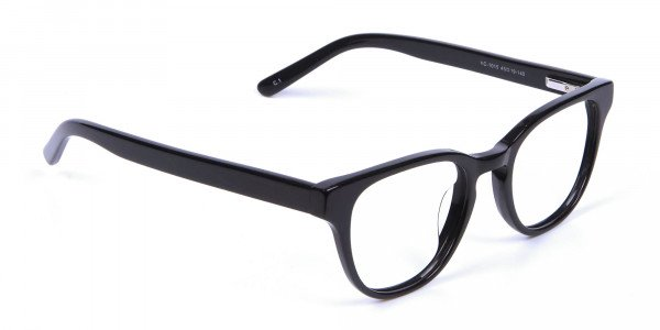 Thick Line Detailed Glasses in Black - 1