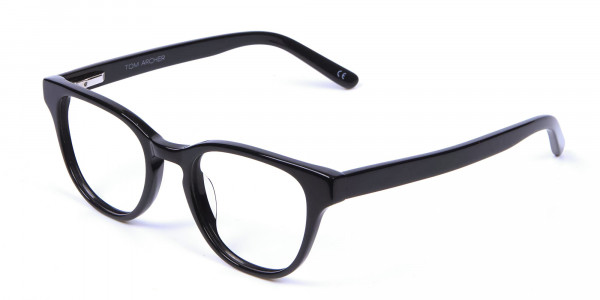 Thick Line Detailed Glasses in Black - 2