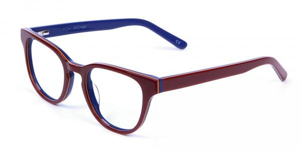 Mahogany Blue and Orange Glasses - 2