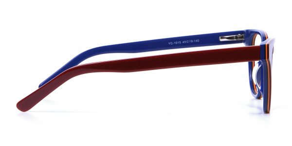 Mahogany Blue and Orange Glasses - 3