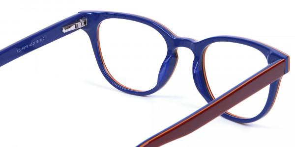 Mahogany Blue and Orange Glasses - 4