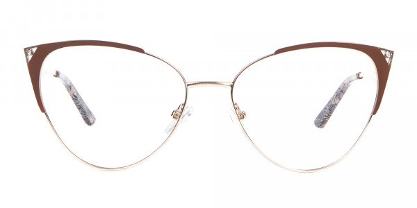 Woman Brown Cateye Frame-1
