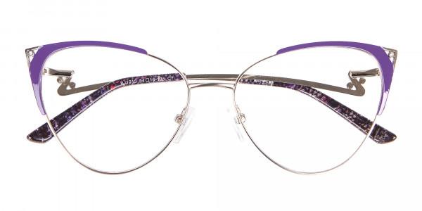 Purple Vintage Inspired Frame, Designer Glasses-6