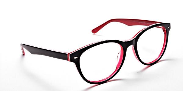 Black & Red Round JONES Cosmopolitan Glasses -2