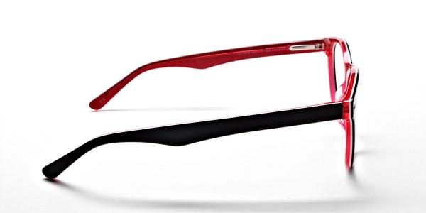 Black & Red Round JONES Cosmopolitan Glasses -4