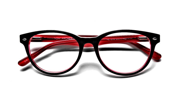 Black & Red Round JONES Cosmopolitan Glasses -6