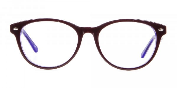 Black & Violet Eyeglasses Frame