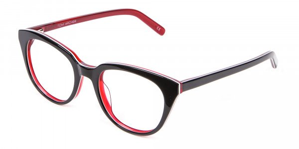 Fresh Look Cat Eye Glasses with Red and Black - 2