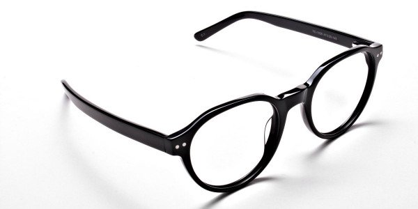 Smart Black Round Eyeglasses -2