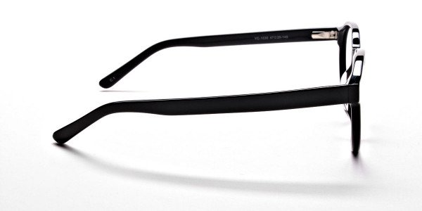 Smart Black Round Eyeglasses -4