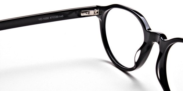 Smart Black Round Eyeglasses -5