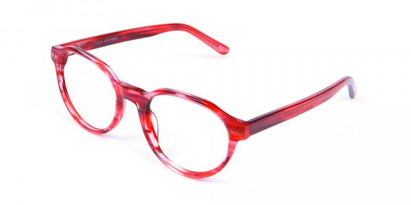 Crystal Ruby Red Eyeglasses - 2