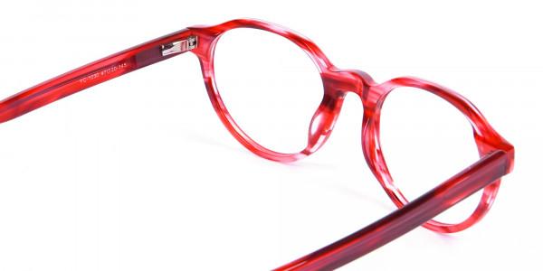 Crystal Ruby Red Eyeglasses - 4