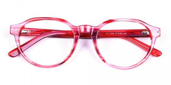 Crystal Ruby Red Eyeglasses - 5