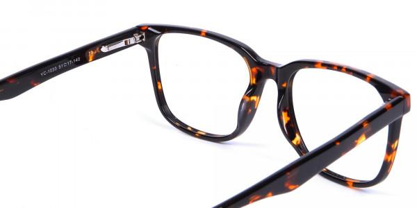 Tortoiseshell Round Eyeglasses - 4