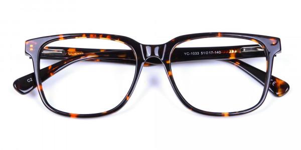 Tortoiseshell Round Eyeglasses - 5